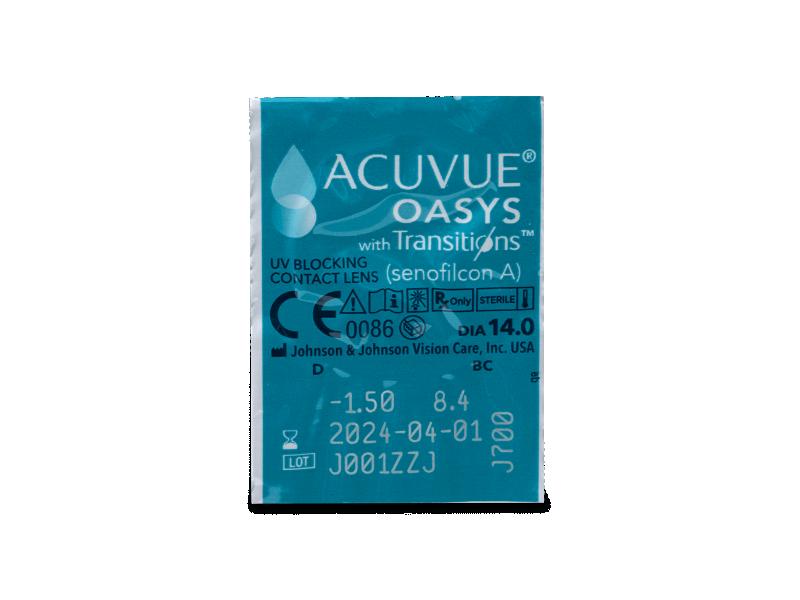 Acuvue Oasys with Transitions (6 lentillas) - Previsualización del blister