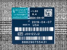Acuvue Oasys with Transitions (6 lentillas) - Previsualización de atributos