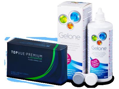 TopVue Premium for Astigmatism (6 lentillas) + Líquido Gelone 360 ml