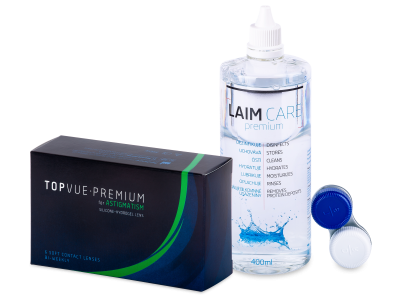 TopVue Premium for Astigmatism (6 lentillas) + Líquido Laim-Care 400 ml