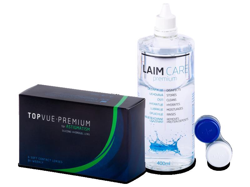 TopVue Premium for Astigmatism (6 lentillas) + Líquido Laim-Care 400 ml - Pack ahorro