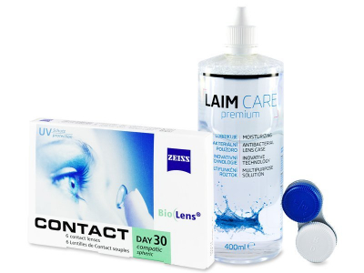Carl Zeiss Contact Day 30 Compatic (6 lentillas) + Laim-Care 400 ml