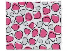 Accesorios - Paño para gafas - Rosa y blanco