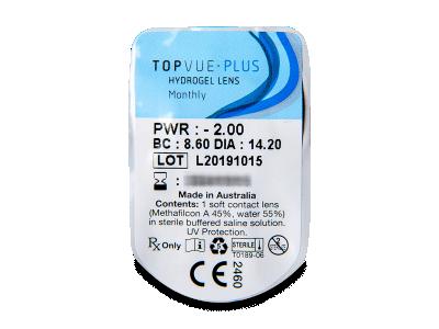 TopVue Plus (6lentillas) - Previsualización del blister