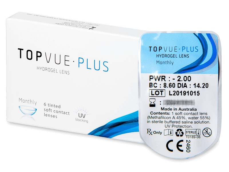 TopVue Plus (1lentilla) - Lentillas mensuales