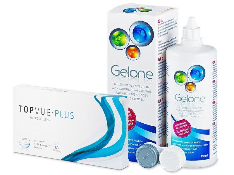 TopVue Plus (6 Lentillas) + Gelone 360 ml - Pack ahorro