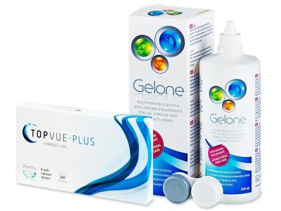 TopVue Plus (6 Lentillas) + Gelone 360 ml - Diseño antiguo