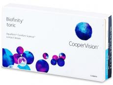 Lentillas mensuales - Biofinity Toric (3Lentillas)