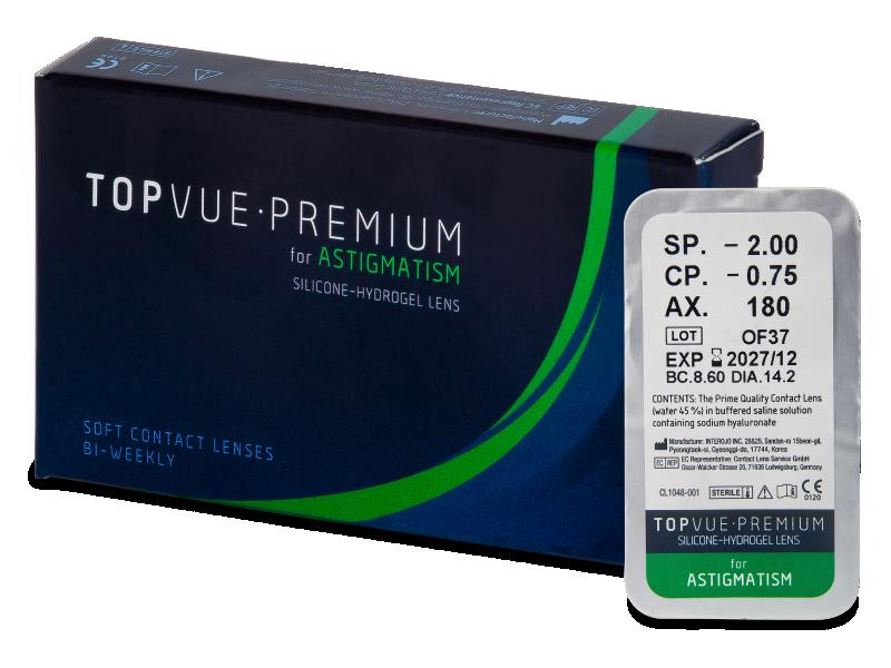 TopVue Premium for Astigmatism (1Lente) - Lentillas tóricas