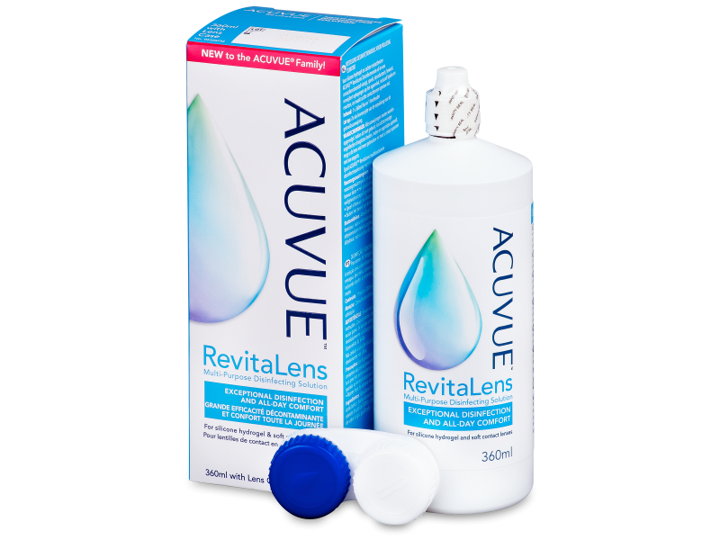 Líquido de limpieza  Acuvue RevitaLens 360 ml  - líquido de limpieza