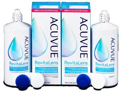 Líquido de limpieza  Acuvue RevitaLens 2x 360 ml