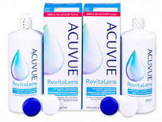 Líquido de limpieza  Acuvue RevitaLens  2x 300 ml  - Economy duo pack- solution