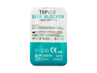 TopVue Blue Blocker (180 lentillas) - Previsualización del blister