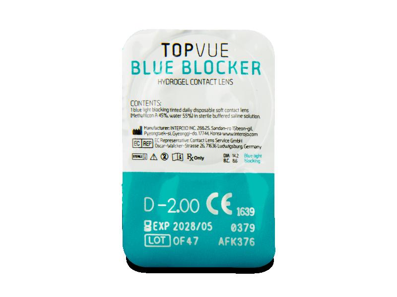 TopVue Blue Blocker (180 lentillas) - Previsualización del blister