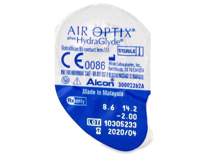 Air Optix plus HydraGlyde (6lentillas) - Previsualización del blister