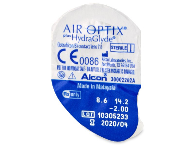 Air Optix plus HydraGlyde (3 lentillas) - Previsualización del blister
