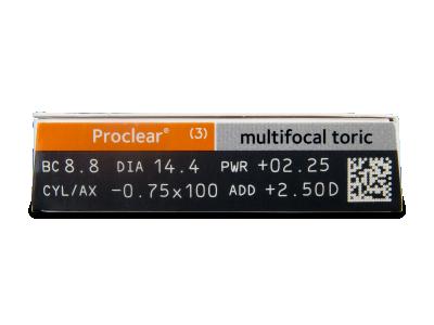 Proclear Multifocal Toric (3lentillas) - Previsualización de atributos