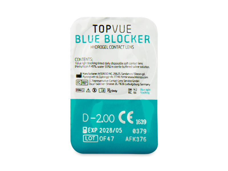 TopVue Blue Blocker (5 pares) - Previsualización del blister