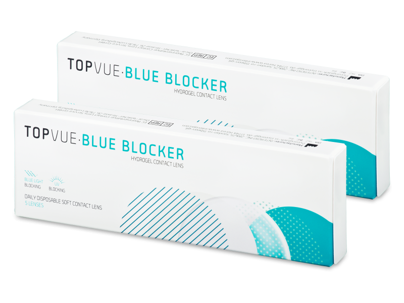 TopVue Blue Blocker (5 pares) - Lentillas diarias desechables