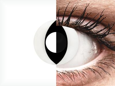 CRAZY LENS - Cat Eye White - Diarias sin graduación (2 Lentillas)