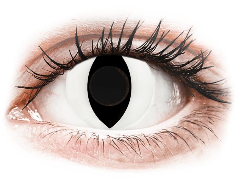 CRAZY LENS - Cat Eye White - Diarias sin graduación (2 Lentillas) - Lentillas de colores