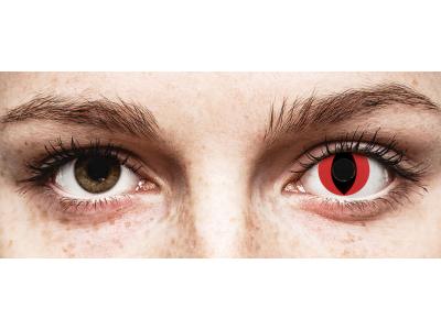 CRAZY LENS - Cat Eye Red - Diarias sin graduación (2 Lentillas)