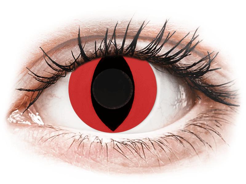 CRAZY LENS - Cat Eye Red - Diarias sin graduación (2 Lentillas) - Lentillas de colores
