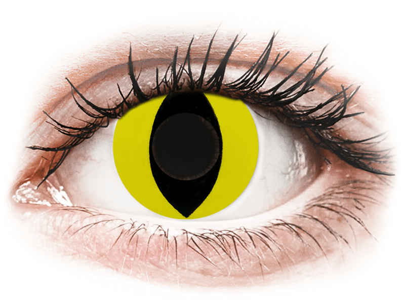 CRAZY LENS - Cat Eye Yellow - Diarias sin graduación (2 Lentillas) - Lentillas de colores