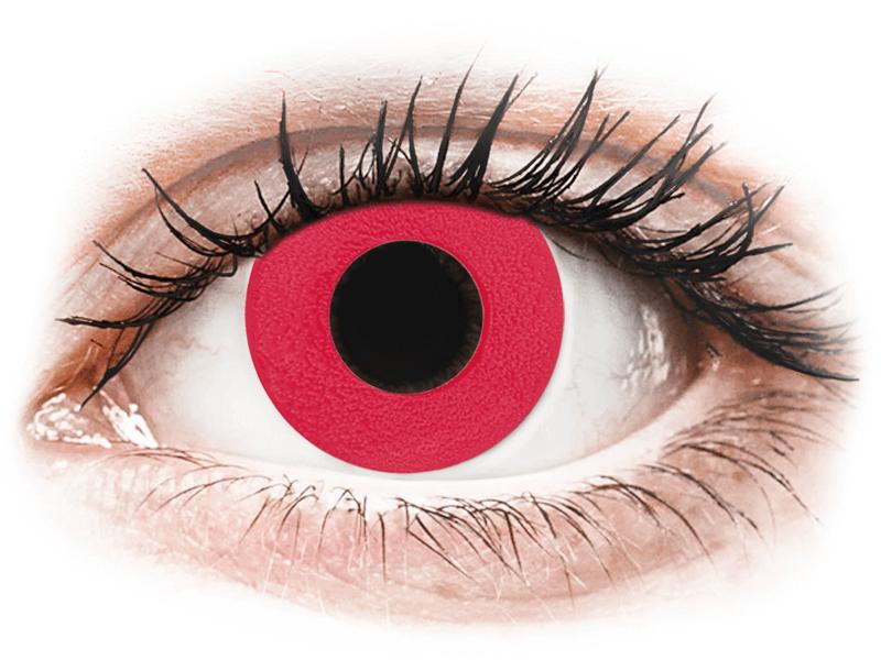 CRAZY LENS - Solid Red - Diarias sin graduación (2 Lentillas) - Lentillas de colores