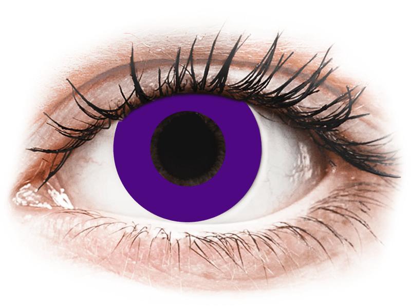 CRAZY LENS - Solid Violet - Diarias sin graduación (2 Lentillas) - Lentillas de colores