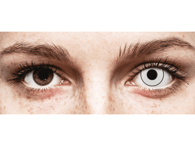 CRAZY LENS - White Black - Diarias sin graduación (2 Lentillas)