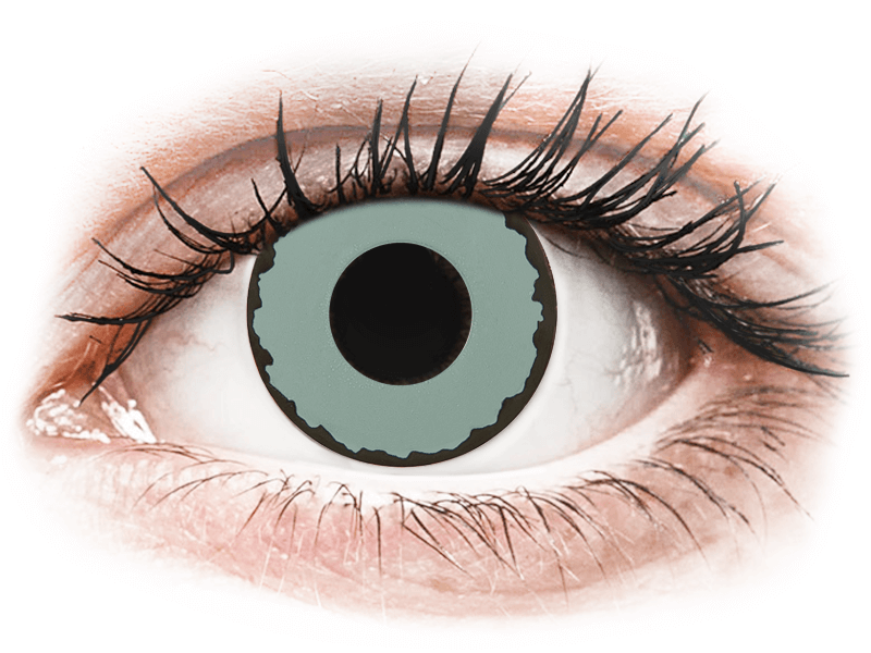 CRAZY LENS - Zombie Virus - Diarias sin graduación (2 Lentillas) - Lentillas de colores