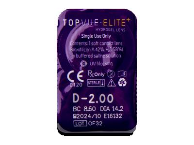 TopVue Elite+ (90 lentillas) - Previsualización del blister