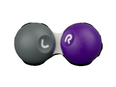 Estuche para lentillas gris y púrpura SG