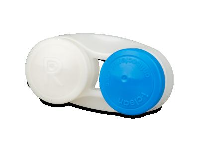 Estuche para lentillas antibacteriano azul