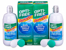 Líquido OPTI-FREE RepleniSH 2x300ml  - Economy duo pack- solution