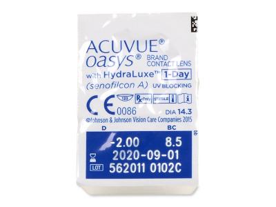 Acuvue Oasys 1-Day (30lentillas) - Previsualización del blister