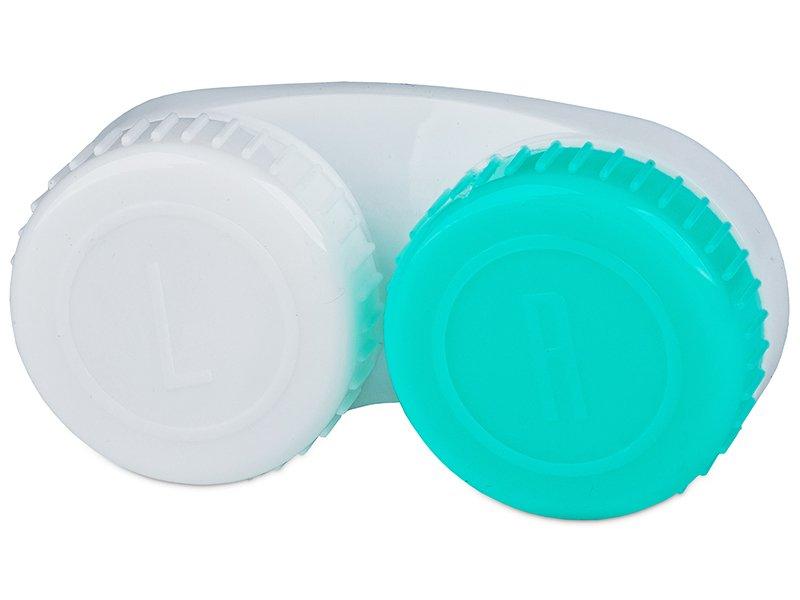 Estuche de lentillas Verde y Blanco con marca L/R