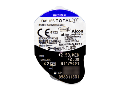 Dailies TOTAL1 Multifocal (30 lentillas) - Previsualización del blister