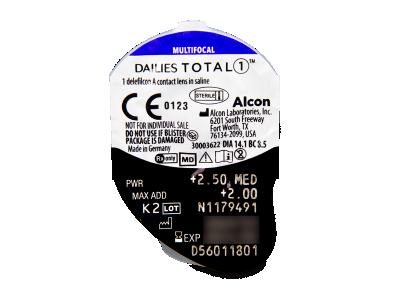 Dailies TOTAL1 Multifocal (90 lentillas) - Previsualización del blister
