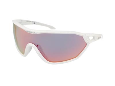 Gafas de sol Alpina S-Way QVM+ White Matt/Quattro Varioflex Rainbow Mirror