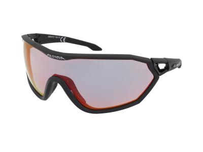 Gafas de sol Alpina S-Way QVM+ Black Matt/Quattro Varioflex Rainbow Mirror