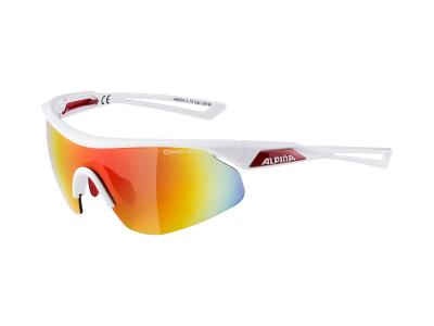 Gafas de sol Alpina Nylos Shield White Red/Red Mirror