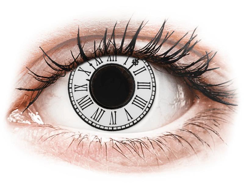 CRAZY LENS - Clock - Diarias sin graduación (2 Lentillas) - Lentillas de colores