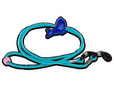 Cordón para gafas en azul - delfín