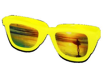 Estuche para lentillas OptiShades - Amarillo