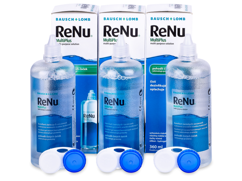 Líquido ReNu MultiPlus 3x360ml  - Pack ahorro - solución triple
