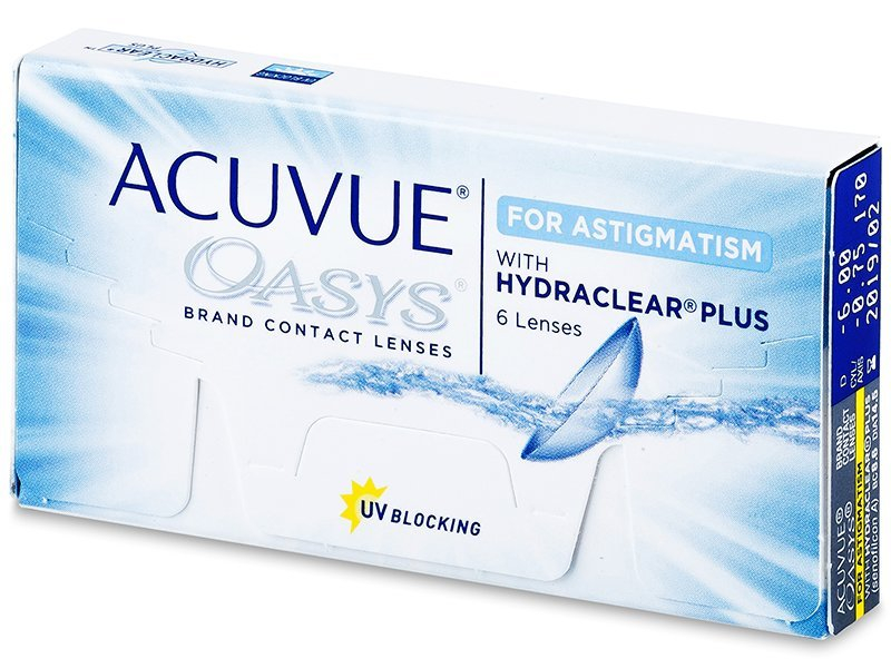 Acuvue Oasys for Astigmatism (6 Lentillas) - Lentillas tóricas - Johnson and Johnson