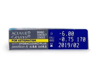 Acuvue Oasys for Astigmatism (6Lentillas)