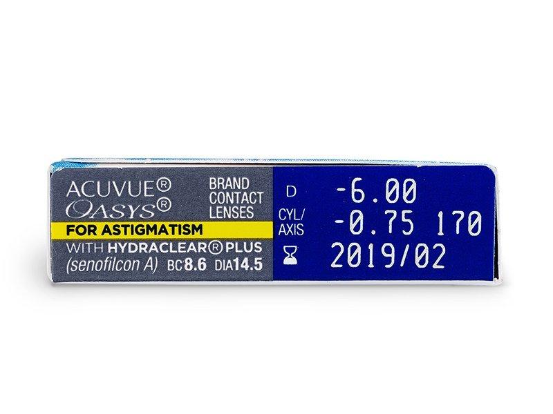Acuvue Oasys for Astigmatism (6Lentillas) - Previsualización de atributos